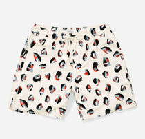 SATURDAYS SURF Timothy Spots Swim Trunks White
