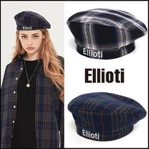 ☆ELLIOTI☆ Check Beret 2色 男女兼用