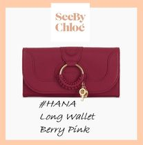 See by CHLOE #HANA#ロングウォレット【BERRY PINK】