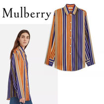 18SS新作☆送関込【Mulberry】Audreyストライプシャツ