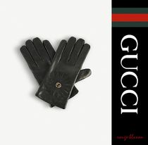 【国内発送】GUCCI 手袋 Angry Cat and cashmere-lined gloves