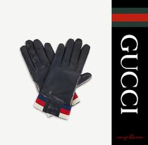 【国内発送】GUCCI 手袋 Web stripe cashmere-lined gloves
