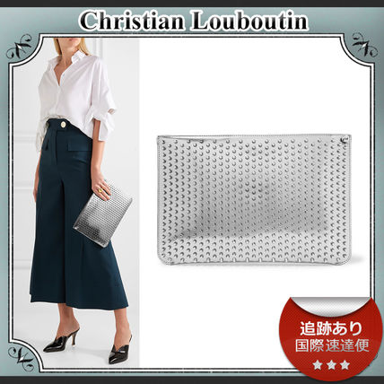 SALE!!送料込≪ルブタン≫ Loubiclutch Spiked クラッチバッグ