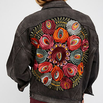 Free People ジャケット 【Free People】花柄刺繍ジャケット Embroidered Denim Jacket(5)