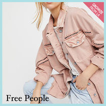 【Free People】ピンクデニムジャケット Drive-in Shirt Jacket
