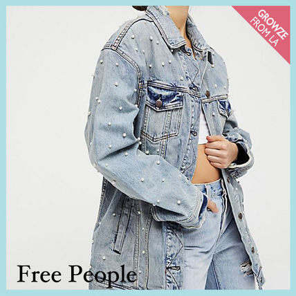 Free People ジャケット 【Free People】ロング丈デニム★ Lazy Sunday Denim Jacket