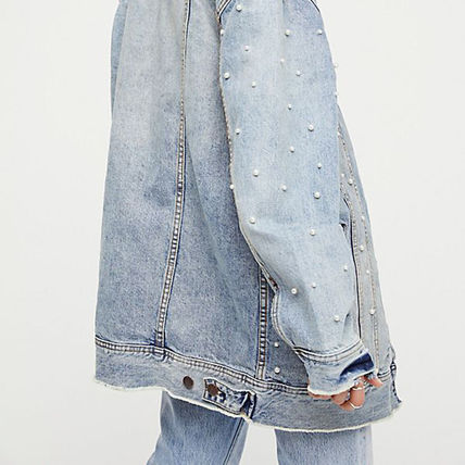 Free People ジャケット 【Free People】ロング丈デニム★ Lazy Sunday Denim Jacket(4)