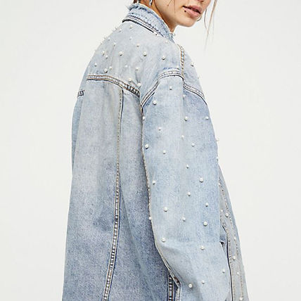 Free People ジャケット 【Free People】ロング丈デニム★ Lazy Sunday Denim Jacket(5)