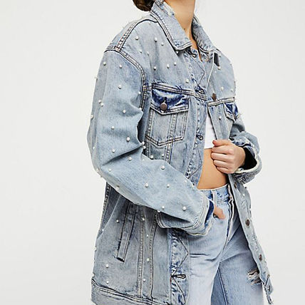 Free People ジャケット 【Free People】ロング丈デニム★ Lazy Sunday Denim Jacket(6)