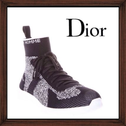 ★★DIOR HOMME 《FABRIC HIGH TOP SNEAKERS》送料込み★★