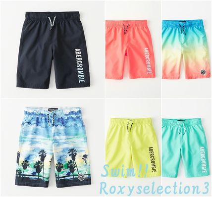 Abercrombie & Fitch 子供用水着・ビーチグッズ 【Abercrombie Kids】logo boardshorts 水着ショートパンツBoys