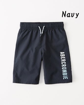 Abercrombie & Fitch 子供用水着・ビーチグッズ 【Abercrombie Kids】logo boardshorts 水着ショートパンツBoys(4)