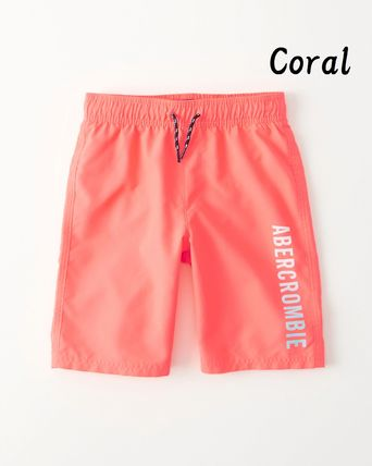 Abercrombie & Fitch 子供用水着・ビーチグッズ 【Abercrombie Kids】logo boardshorts 水着ショートパンツBoys(5)