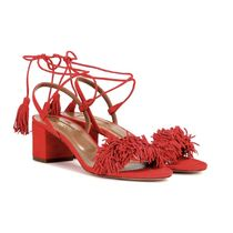 在庫SALE!AQUAZZURA(アクアズーラ)suede sandals