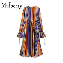 18SS新作☆送関込【Mulberry】Clareストライプワンピース