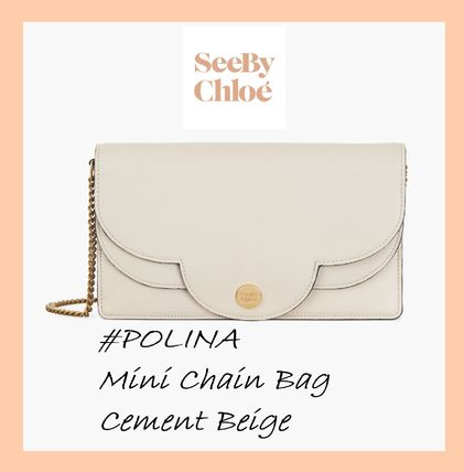 See by Chloe #POLINA #チェーンミニバッグ【Cement Beige】