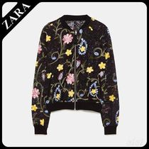 ★ZARA TRF★  EMBROIDERED BOMBER JACKET