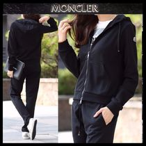 【MONCLER】17AWロゴパッチフードジップアップパーカーBLACK/EMS