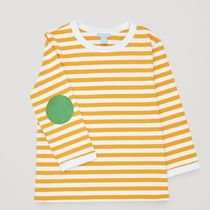 """COS(コス) キッズ用トップス """"COS KIDS""""STRIPED TOP WITH ELBOW PATCHES YOLKYELLOW"""