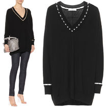 18SS G231 PEARL EMBELLISHED OVERSIZED SWEATER