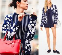 Michael Kors*森星さん着用 Floral Embroidered Bomber Jacket