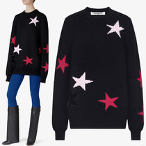 18SS G236 OVERSIZED STAR SWEATER WITH CUT OUT DETAIL