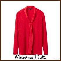 MassimoDutti♪COMBINED T-SHIRT WITH SCARF DETAIL