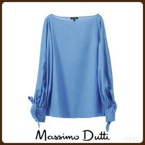MassimoDutti♪COTTON BLOUSE WITH TIED SLEEVES