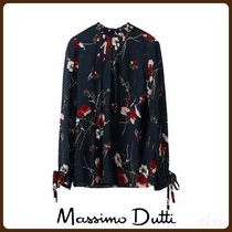 MassimoDutti♪SILK FIL COUPE SHIRT WITH FLORAL PRINT