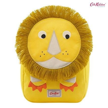 Cath Kidston 子供用リュック・バックパック Cath Kidston★KIDS LION NOVELTY BACKPACK YELLOW