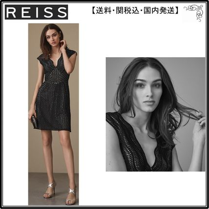 【海外限定】REISS ワンピース☆MARIANNA STRUCTURED LACE FIT A