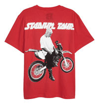 Justin Bieber Stadium Merch x H&M プリントTシャツ レッド