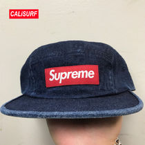 新作★SS18 Supreme Washed Chino Twill Camp Cap/denim