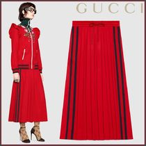 GUCCI(グッチ) Gonna a pieghe in jersey tecnico スカート
