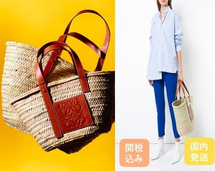 LOEWE leather and Basket tote bag L size