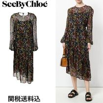 2018SS◆関送込◆See by Chloe◆Floral Night プリントドレス