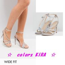 ASOS HOMECOMING Wide Fit Heeled Sandals♪