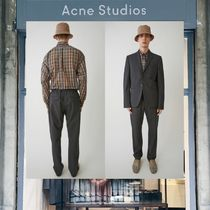 【18SS NEW】 Acne Studios_men / Ari wool trousers dark grey/