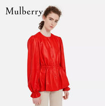 18SS新作☆送関込【Mulberry】Eleanoreレザージャケット☆Red