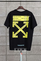 OFF-WHITE // BLACK FIRETAPE T-SHIRT Tシャツ ブラック
