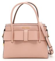 MiuMiu Grain Leather Madras Bag