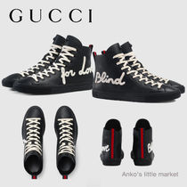 """【GUCCI】大人気 """"Blind For Love"""" ハイトップスニーカー"""