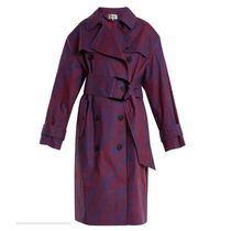 送料込:ダイアンVisconti-print cotton-blend trench coat