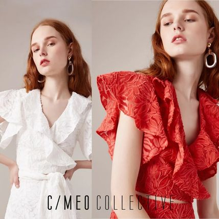 CAMEO COLLECTIVE★MORE TO GIVEラッフル袖のラップトップス