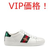VIP価格!GUCCI(グッチ) Ace embroidered leather sneakers♪