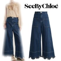 【18SS】大注目!!★SEE BY CHLOE★ワイドレッグジーンズ