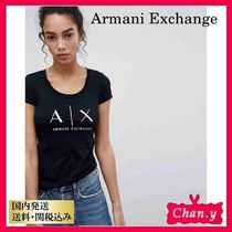 送料・関税込み☆A/X Armani Exchange Logo T-Shirt ブラック