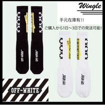 残り僅か!!【OFF-WHITE】BLACK FIRETAPE SOCKS【送関込】