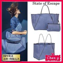 State of Escape(ステイトオブエスケープ) トートバッグ 送料・関税込み☆State of Escape NEW GUISE TOTE BAG ブルー