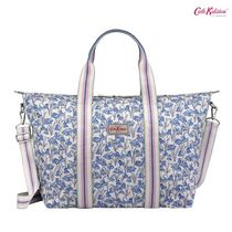 Cath Kidston☆FOLDAWAY OVERNIGHT BAG BLUEBELLS CREAM BLUE